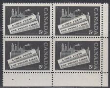 CANADA #375 5¢ Newspaper Industry LR Corner Block MNH