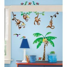 41 Monkey Business Jungle Theme Scene Removable wall decals stickers appliques