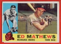 1960 Topps #420 Eddie Mathews VG-VGEX+ HOF Milwaukee Braves Atlanta FREE S/H