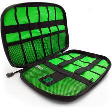 Nero Borsa USB Cavi Organizzatore da Viaggio Custodia per Accessori Elettronici