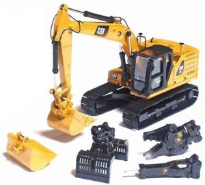 DM 85657 Cat 323 NG Mod HEX Excavator with 4 Attachments 1:50