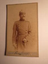 München im SS 1893 - Soldat in Uniform mit Helm - Biersoldat ? Name ? / CDV