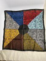 Silk Hand Rolled Handkerchief Pocket Square Japan Beautiful Mandala Design 1