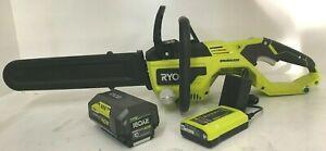 RYOBI RY40550 Portable Cordless Chainsaw 40-Volt Brushless Lithium-Ion, GR