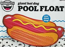Big Mouth Hot Dog Giant Inflatable Pool Float Raft Tube 4 Feet Long