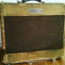 Vintage 1954 Fender Tweed Deluxe Guitar Amplifier    5D3  Wide Panel