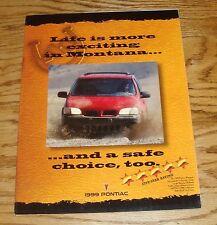 Original 1999 Pontiac Montana Foldout Sales Brochure 99