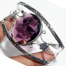 G23754 Amethyst 925 Sterling Silver Plated Bangle Jewelry