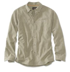 NWT Men's Orvis Fishing Tech Chambray Work Shirt UPF 30+ L/S Canteen