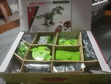 Meccano Meccasaur Robot Building Toy plus Mecanno helicopter
