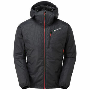 Montane Prism Mens Jacket Synthetic Fill - Black All Sizes