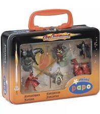 Mini Papo Les Fantastiques Fantasy Figurines In Metal Carry Case New