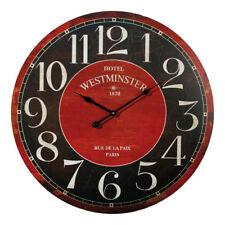 Westminster reloj de pared 58 cm retro Shabby Clock ronda analógico reloj de pared