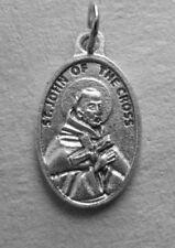 "St John of the Cross / Pray for Us   Oxidized Medal (7/8"" x5/8"")"