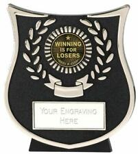 Emblems-Gifts Curve Silver Winning Is For Losers Trophy With Free Engraving