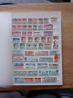 STAMP ALBUM WITH USED STAMPS SOUTH AFRICA GHANA ALL SHOWN A4 SIZE