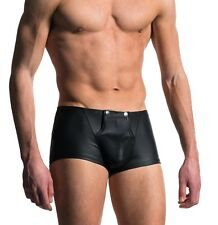Sexy Mens Lingerie Faux Leather Boxer Briefs Shorts Underwear Buttons Trunks XL