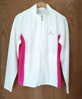 Womens Monterey Club Legacy Golf Fitted Jacket Small White/ Pink Zip Long-Sleeve