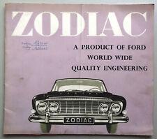 V13579 FORD ZODIAC - CATALOGUE - 02/62 - 23x27 - GB