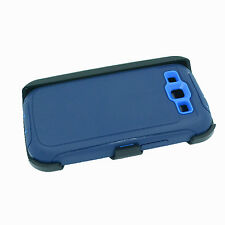 navy new Samsung Galaxy S3 heavy duty defender case&Belt Clip&screen protector