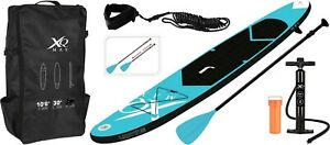 XQ MAX Pure 4 Fun Inflatable Stand Up Paddle Board SUP 3.05M 10ft BLUE Backpack
