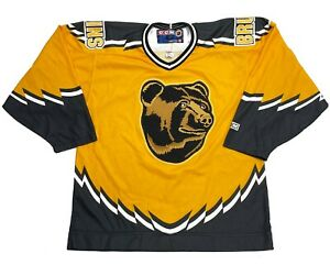 Vintage Boston Bruins CCM Bear NHL Alternate Sewn Hockey Jersey 1996 2005 Large
