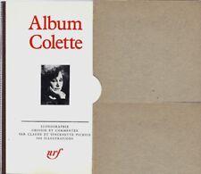 BIBLIOGRAPHIE EO GALLIMARD CLAUDE & VINCENETTE PICHOIS : ALBUM PLÉIADE COLETTE