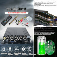 4CH Vehicle Car Mobile DVR Security Video Recorder SD + VGA +I/O Cable 8-36V UK