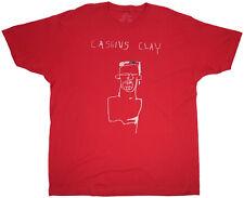 Jean-Michel Basquiat T-Shirt Cassius Clay Red Mens Regular Fit Top Size 2XL