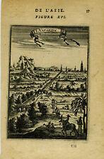 1683 Genuine Antique print Nangking, Nanjing, China. A.M. Mallet