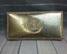vintage antique heavy metal cigarette case art deco desktop holder metal box