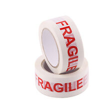 1PC Fragile Handle With Care Adhesive Tool White Tape Roll 85M