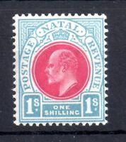 Natal KEVII 1s carmine & pale blue SG155 mint LHM WS10978