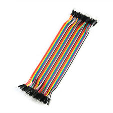New Male To Male 40pcs 20cm 2.54mm Breadboard Jumper Wire Cable For Arduino