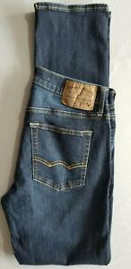 AMERICAN EAGLE Men Extreme Flex Slim Straight Cotton Denim Jean - 30x34 Blue NEW