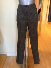 Michele Trousers 'Blue Dot' Becky Size 20 BNWT Black Mid Brown RRP £126 Now £57