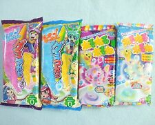 4 PCS Set New Kracie Gummy Tsureta Nerunerunerune Japanese Candy Popin Cookin