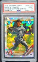 2019 Bowman Chrome ATOMIC REFRACTOR Arizona BLAZE ALEXANDER RC PSA 9 Pop 3