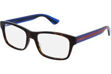 NEW GUCCI Mens Havana Blue Transparent Stripe Eye Glasses Frame GG 0006O 003 6O