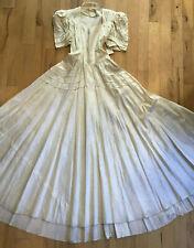 Original Vintage 1939 1940s Wedding Gown