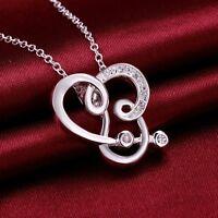 7 Zirkonia* 925 Sterling Silber Anhänger mit Halskette Silberkette Kette Damen