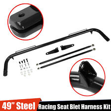"49"" Stainless Steel Racing Safety Seat Belt Chassis Roll Harness Bar Rod Kit"