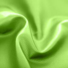 Lime Green Faux Leather Leatherette Upholstery Material FR Fabric Fire Resistant