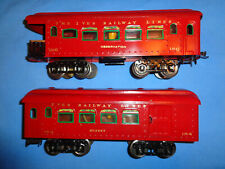 Ives #184 Buffet Car and #186 Observation Car.