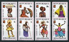 Rwanda 1975 MNH Themabelga African Costumes Traditional Dress 8v Set Stamps