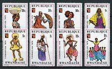 Rwanda 1975 MNH Themabelga African Costumes Traditional Dress 8v Set Stamps