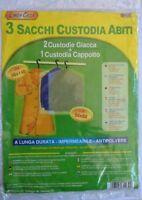 3 Sacos Cubierta Ropa 56x140 Capa + 56x92 Para Chaquetas Impermeable New