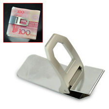 Mens Simple Useful Stainless Steel Silver Slim Pockets Cash Money Clip Holder
