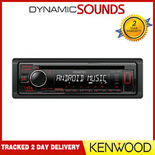 Kenwood KDC-130UR CD MP3 USB RDS Radio Stereo Android Ready Red Illumination