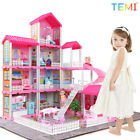 TEMI Doll House Toys for Children Play Dream house Building Toys Kit Girl Toys